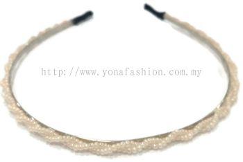 Small Beads Hair Band (Peach)