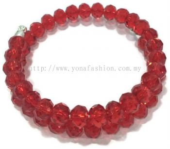 Stylish Crystal Stone Bangle (Red)