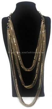 Designer Long Layer Chain (Gold)