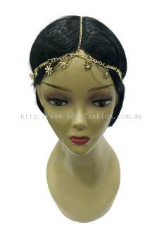 Fancy Flower Head Chain (Gold) (ST00664)