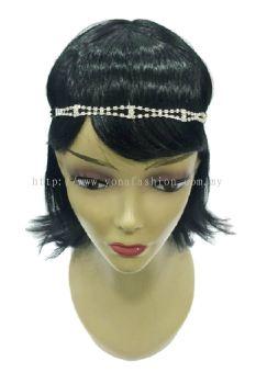 Designer Stone Head Chain (Silver) (ST00677)