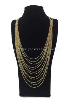 Designer Layer Strand Long Chain (Gold)