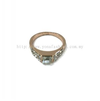 Square Stone Ring (Clear White)