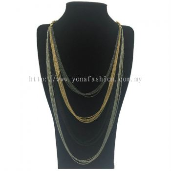 Colourful Layer Strand Long Chain (Multicolour) (ST00475)