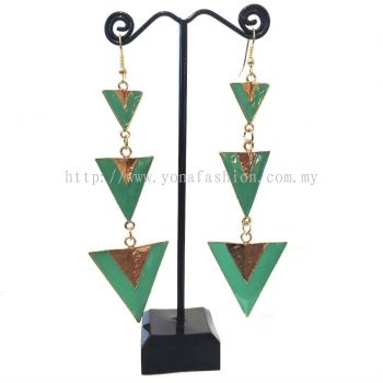 Yona Fashion Designer Earring (Green Gold)