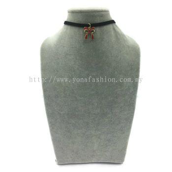 Yona Fashion Fancy Choker With Pendant(Ribbon)