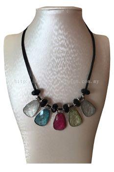 5 Color Stone Necklace