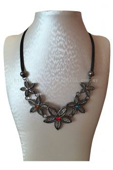Floral Colorful Stone Necklace
