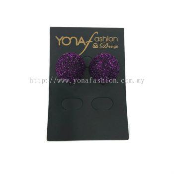 Yona Fashion Fabric Stud Earring (purple)
