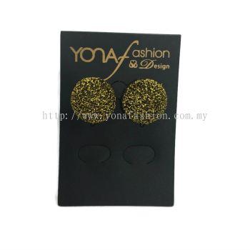 Yona Fashion Fabric Stud Earring (yellow)