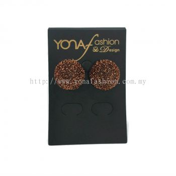 Yona Fashion Fabric Stud Earring (chocolate)