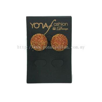 Yona Fashion Fabric Stud Earring (orange)
