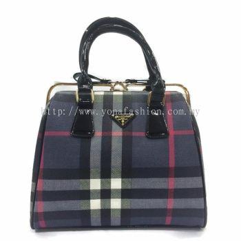 Yona Fashion Matte Hard Handbag (Blue)
