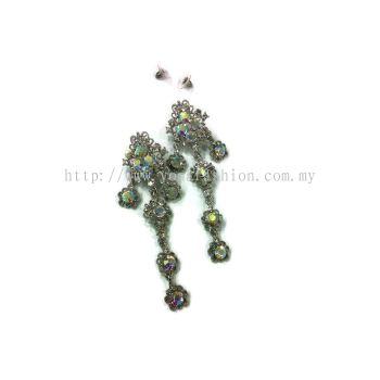 Yona Fashion Grand Stone Earring (Silver)