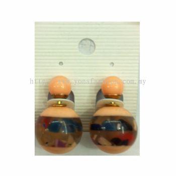 Yona Fashion Front Back Stud Earring (Orange)