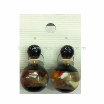 Yona Fashion Front Back Stud Earring (Black)