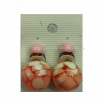 Yona Fashion Front Back Stud Earring (Pink)