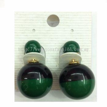 Yona Fashion Front Back Stud Earring (Green)
