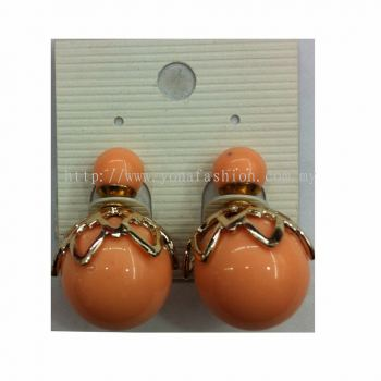 Yona Fashion Front Back Stud Alloy Earring (Peach)