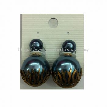 Yona Fashion Front Back Stud Alloy Earring (Blue)