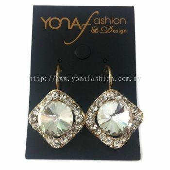 Yona Fashion Stone Hoop Earring