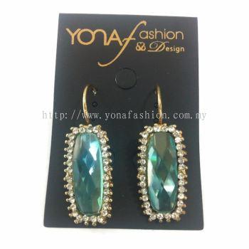 Yona Fashion Blue Stone Hoop Earring