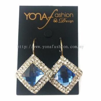Yona Fashion Diamond Shape Hoop Earring
