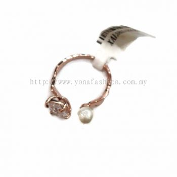 Yona Fashion Stone Ring with Small Pearl (silver)