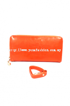 Yona Fashion Gelaren Leather Purse (Orange)