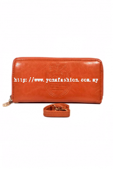 Yona Fashion Gelaren Leather Purse (Brown)