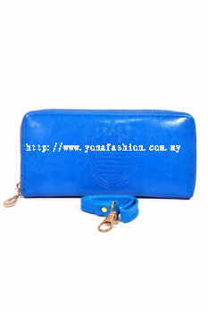 Yona Fashion Gelaren Leather Purse (Blue)
