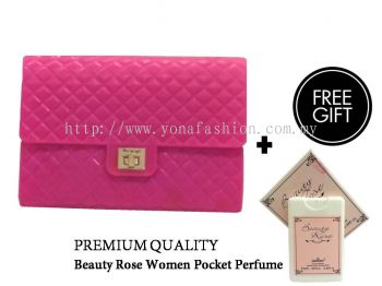 Yona Fashion Jelly Sling Bag (FREE Premium Quality Beauty Rose Pocket Perfume)