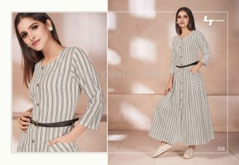 YONA FASHION LT ZWEEN LONG DRESS WITH BELT