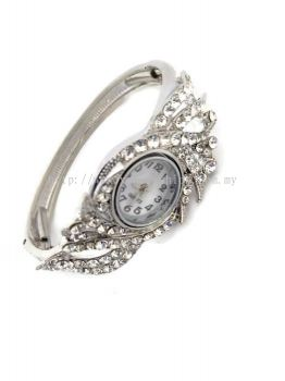 YONA FASHION STONE WATCH (SILVER)