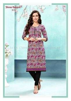 COTTON KURTI ( MULTICOLOUR )
