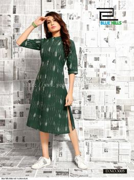 IKKAT DESIGN COTTON KURTI