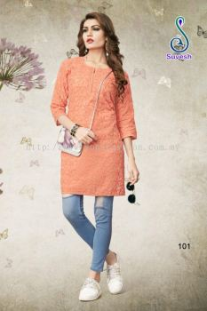 EMBROIDED COTTON KURTI