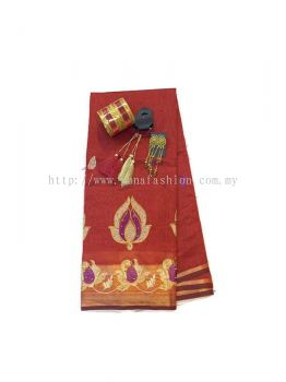 COTTON SILK SAREE WITH STONE & EMBROIDERY