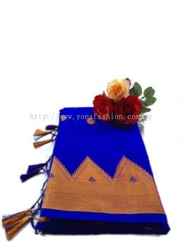 COTTON SAREE WITH SMALL GOLD BORDER
