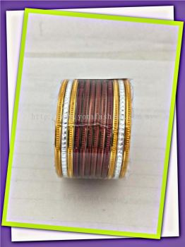 COLOURED FANCY METAL BANGLES