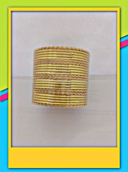 COLOURED FANCY METAL BANGLE