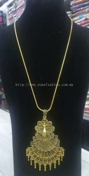 LIGHT WEIGHT PEACOCK DESIGN GOLD NECKLACE
