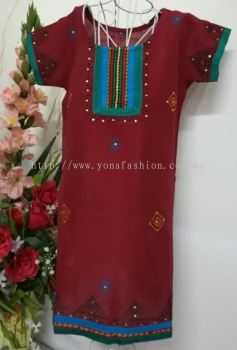 SILK COTTON KURTI FOR BABY GIRLS