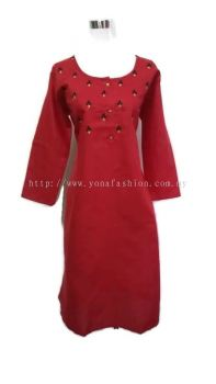 FLORAL EMBROIDED COTTON KURTI TOPS