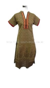 WOMEN 'S PURE COTTON PRINTED KURTI TOPS