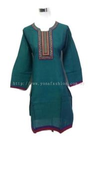 WOMEN 'S PURE COTTON THREADWORK KURTI TOPS