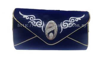 WOMEN FASHION EMBROIDED & STONE STUDDED ENVELOPE CLUTCH