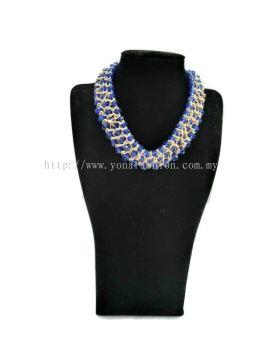 Women's Designer Full Crystal Stone Beads Three Layered Necklace