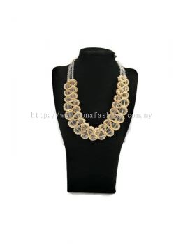 Women's Designer Full Crystal Stone Beads Two Layered Necklace