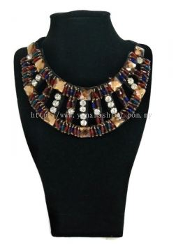 Women's Designer Elegant Crystal Necklace Chunky with  Stones